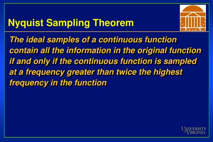 Nyquist Sampling Theorem