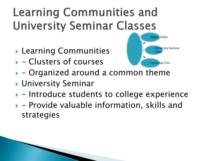 Learning Communities and University Seminar Classes