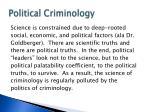 political criminology
