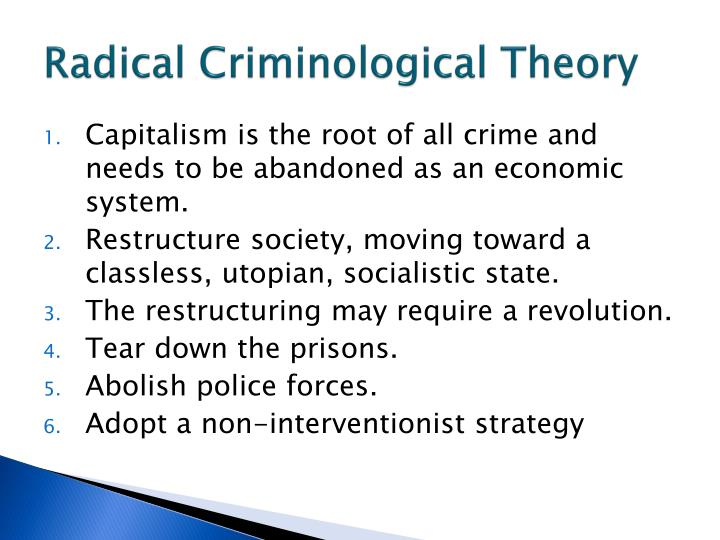 Radical Criminological Theory