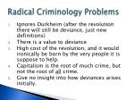 radical criminology problems