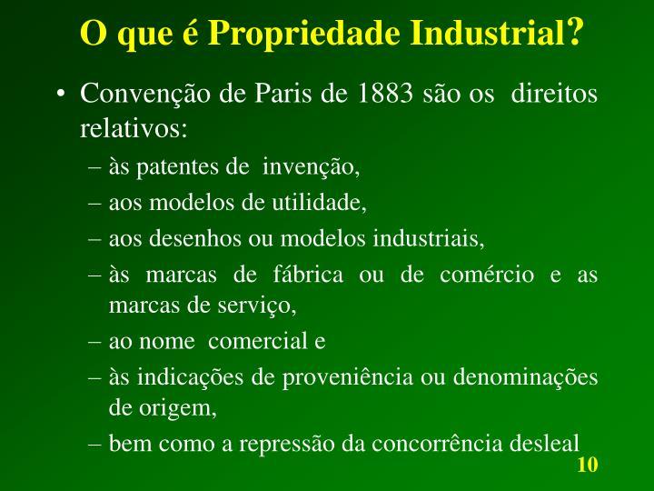 O que é Propriedade Industrial