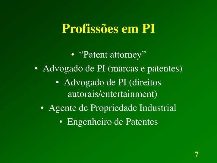 Profissões em PI