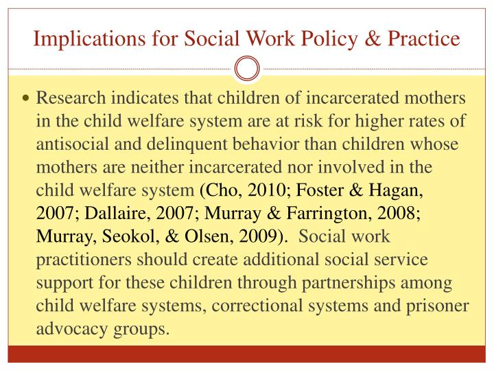 Implications for Social Work Policy & Practice