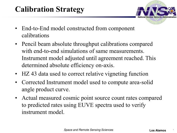 Calibration Strategy