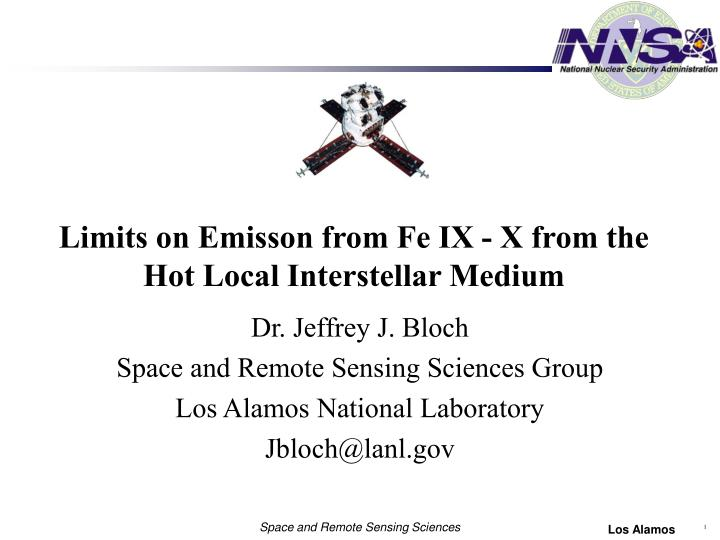 Limits on emisson from fe ix x from the hot local interstellar medium