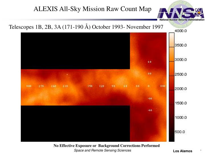 ALEXIS All-Sky Mission Raw Count Map