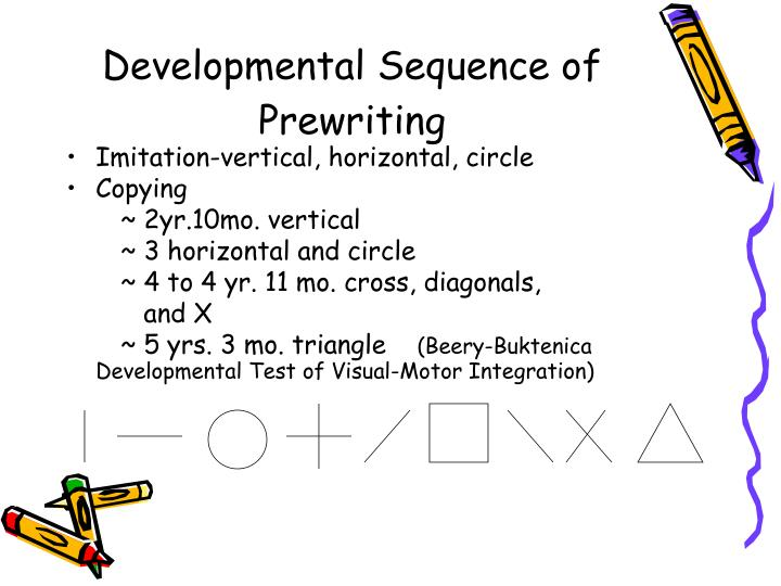 Developmental Sequence of Prewriting