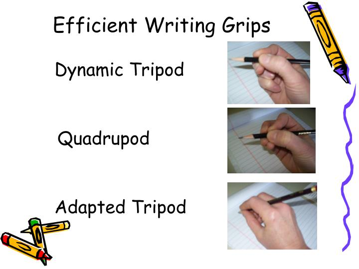 Efficient Writing Grips