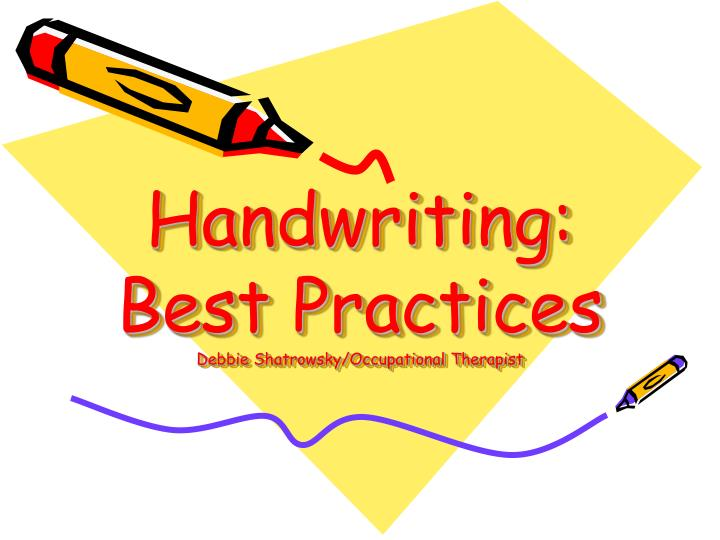 Handwriting best practices debbie shatrowsky occupational therapist