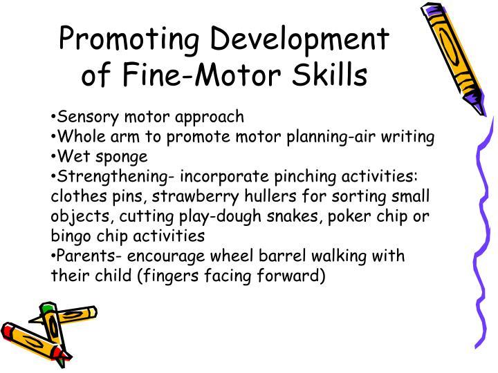 Promoting Development of Fine-Motor Skills
