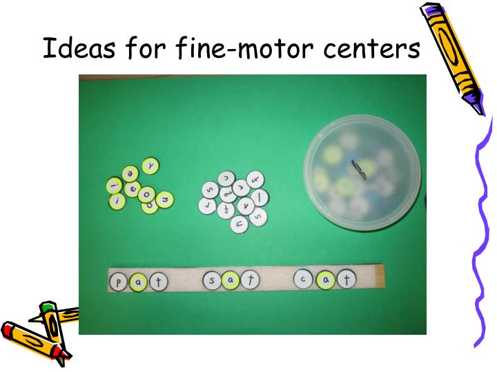 Ideas for fine-motor centers