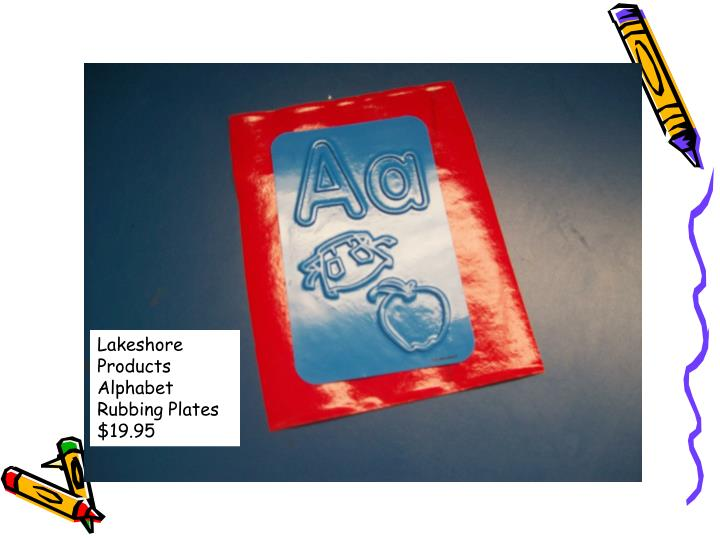 Lakeshore Products Alphabet Rubbing Plates $19.95