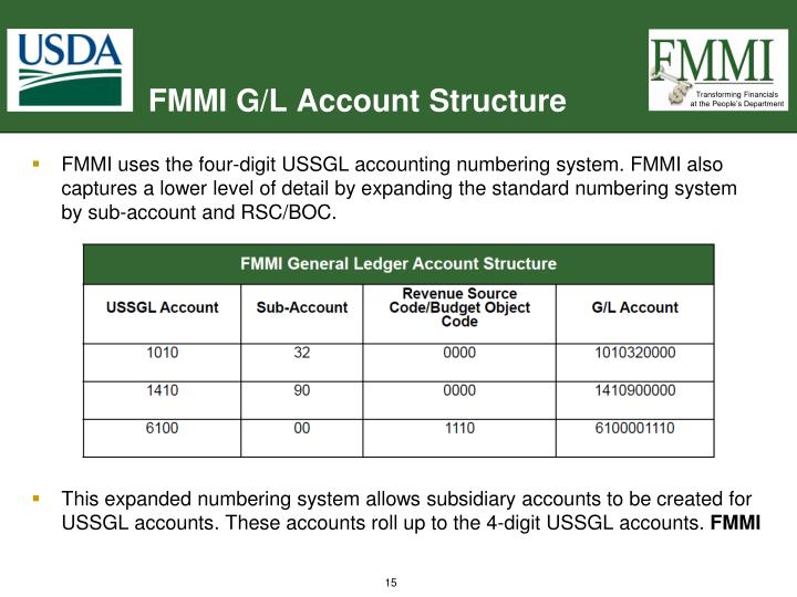 FMMI G/L Account Structure
