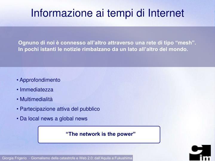 Informazione ai tempi di Internet