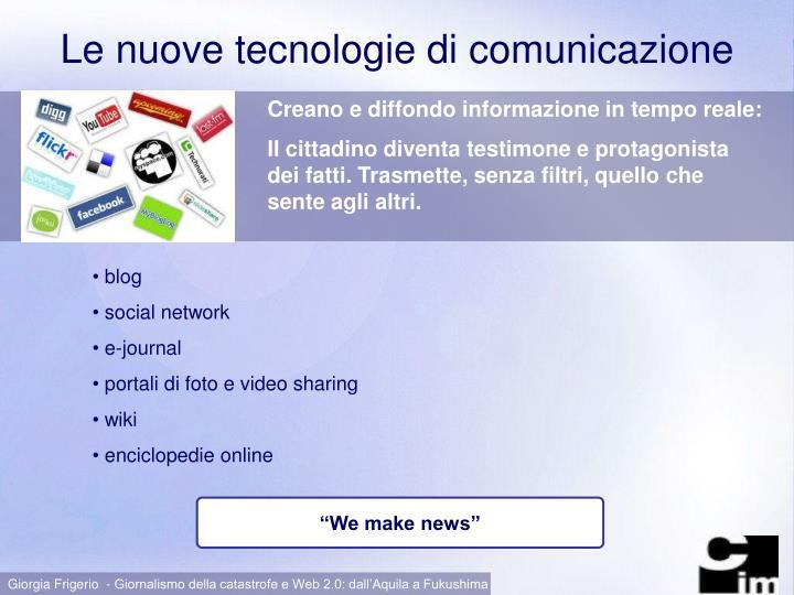 Le nuove tecnologie di comunicazione