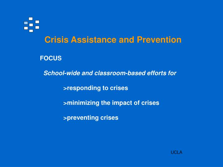 Crisis Assistance and Prevention