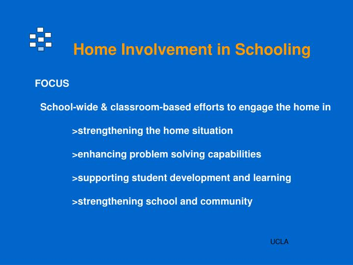Home Involvement in Schooling