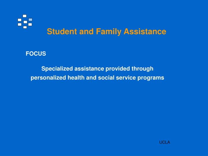 Student and Family Assistance