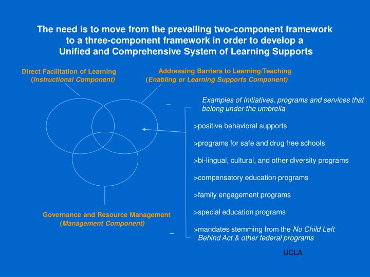 The need is to move from the prevailing two-component framework