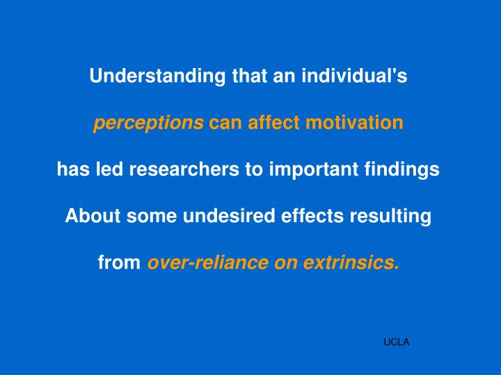 Understanding that an individual's