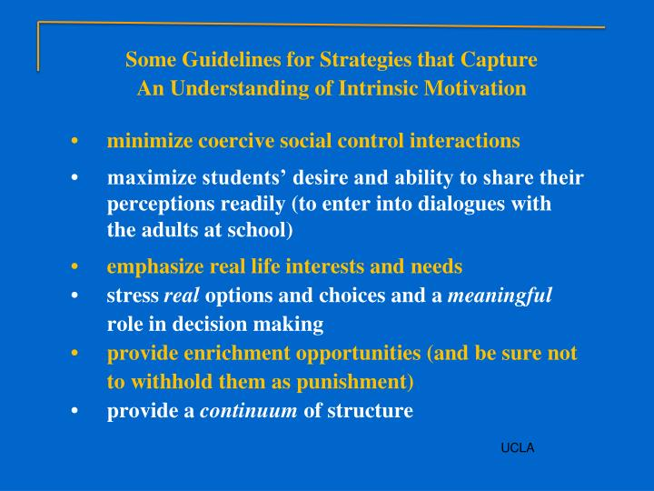 Some Guidelines for Strategies that Capture