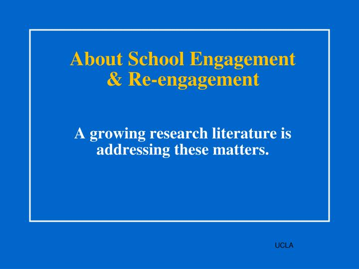About School Engagement