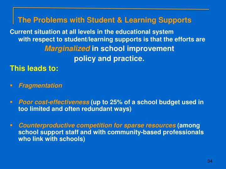 The Problems with Student & Learning Supports
