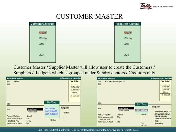 Customer Master