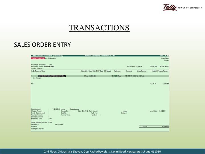 Sales Order Entry