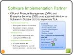 software implementation partner