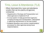 time leave attendance tla