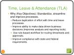 time leave attendance tla2
