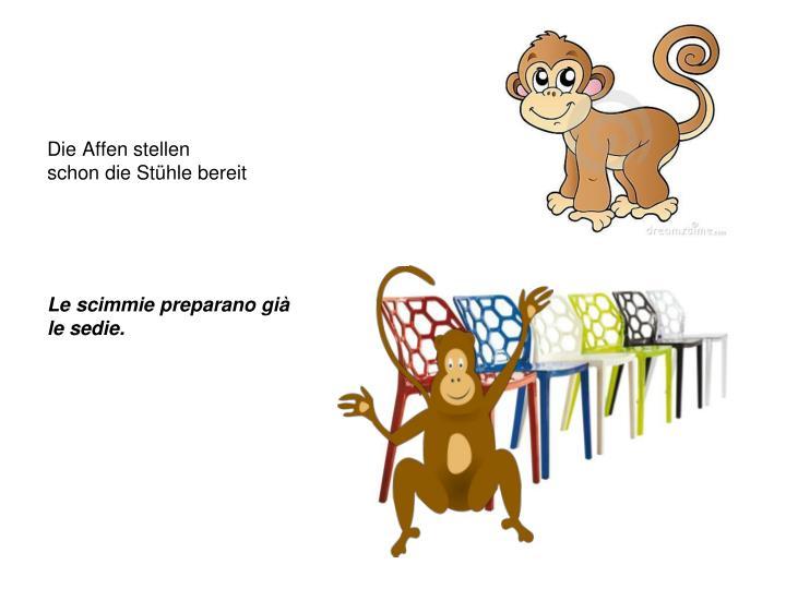 Die Affen stellen