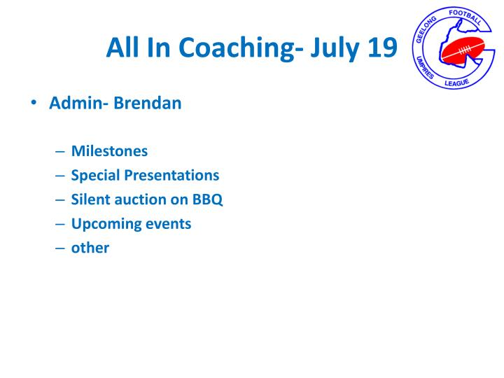 All in coaching july 191