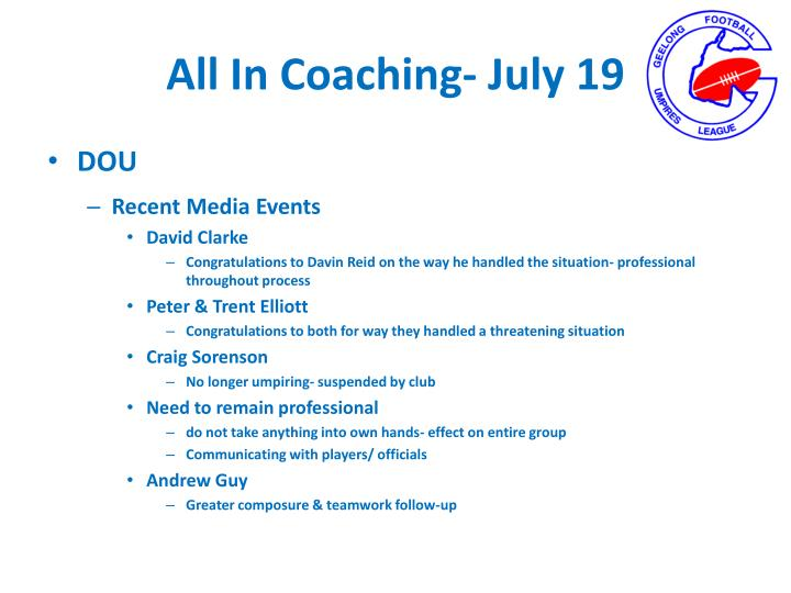All In Coaching-