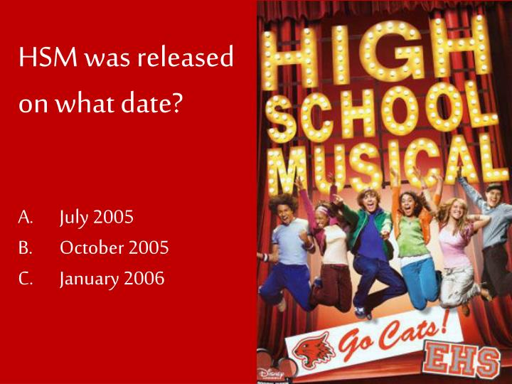 Hsm was released on what date