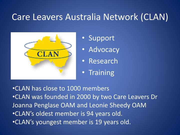 Care Leavers Australia Network (CLAN)
