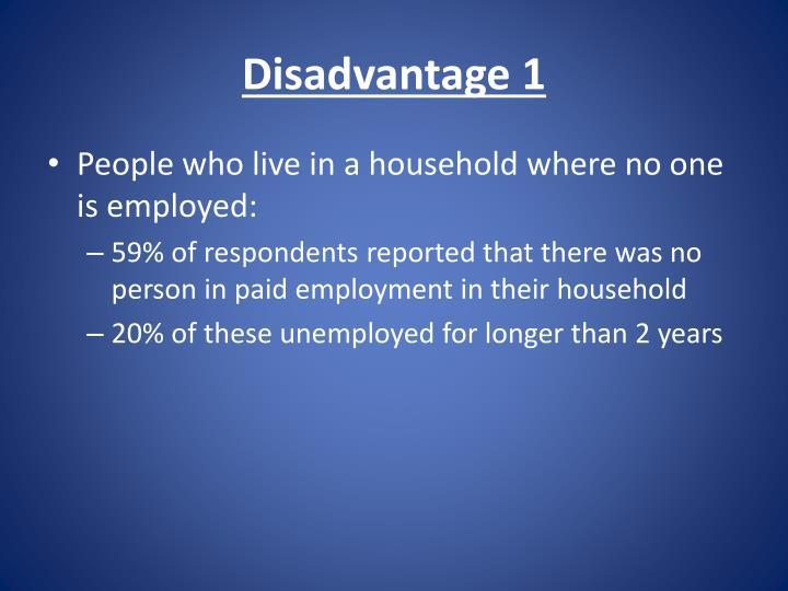 Disadvantage 1