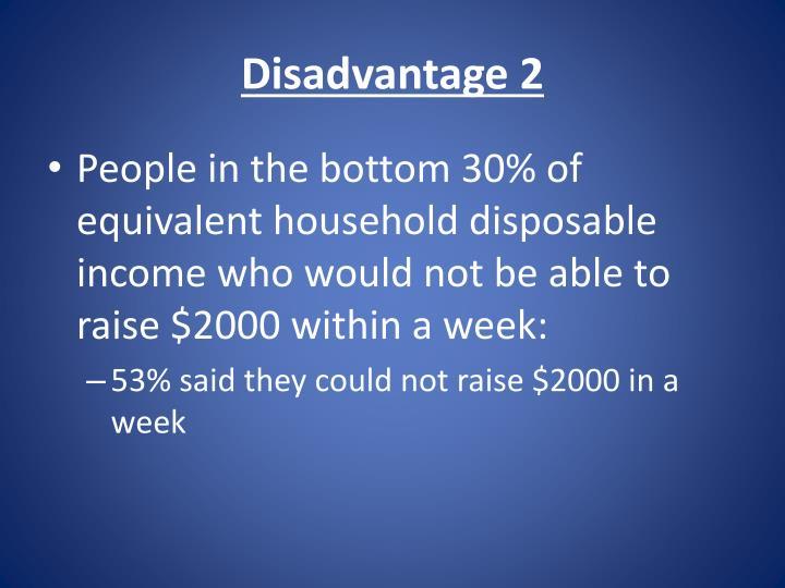 Disadvantage 2