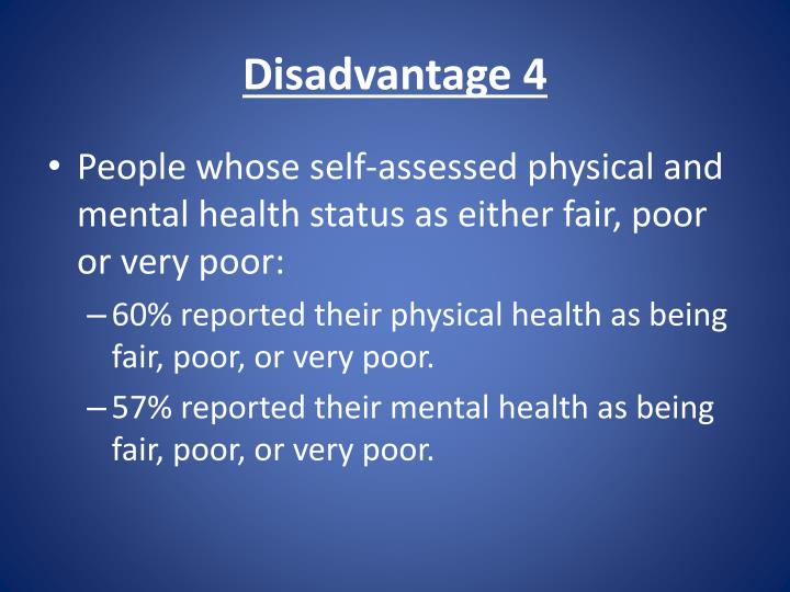 Disadvantage 4