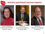 and their quarterback and team captains
