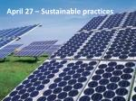 april 27 sustainable practices