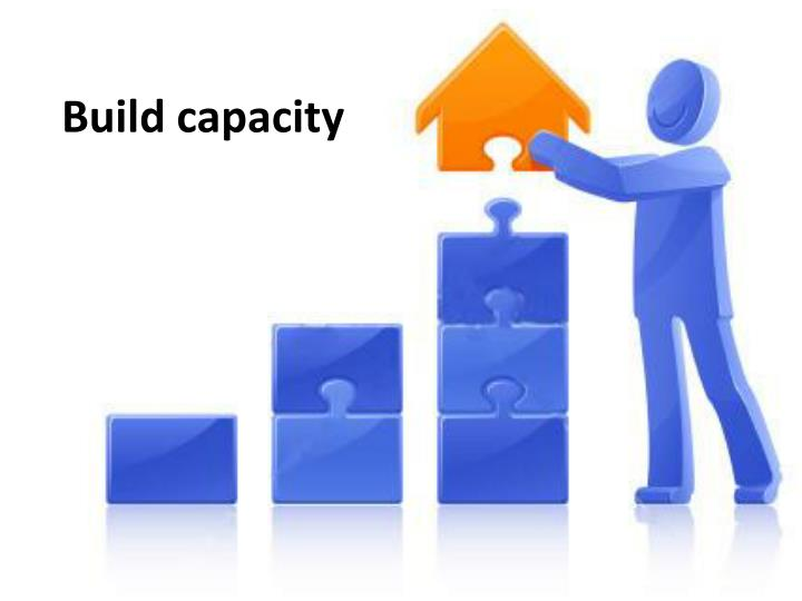 Build capacity