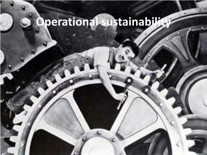 Operational sustainability