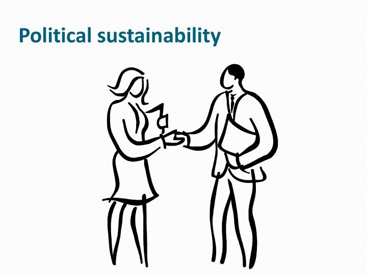 Political sustainability