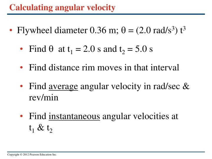 Calculating angular velocity