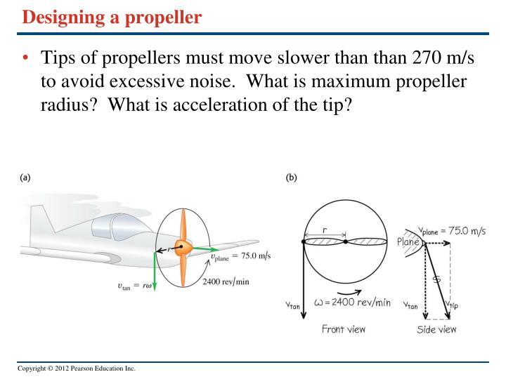 Designing a propeller