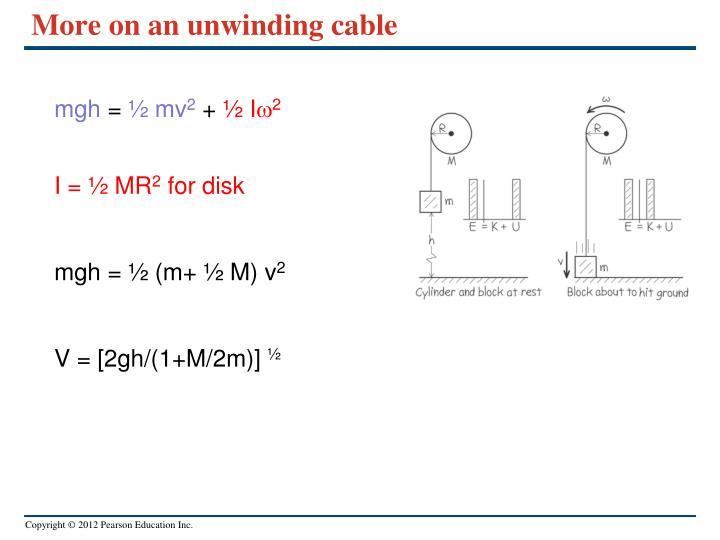 More on an unwinding cable