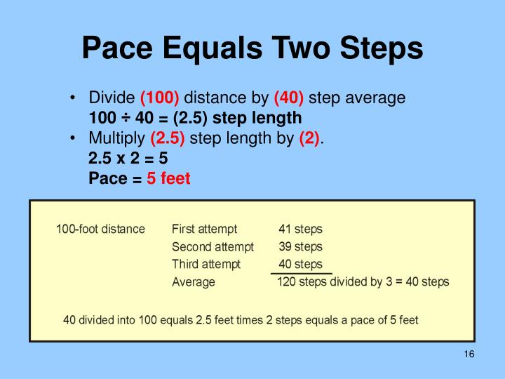 Pace Equals Two Steps